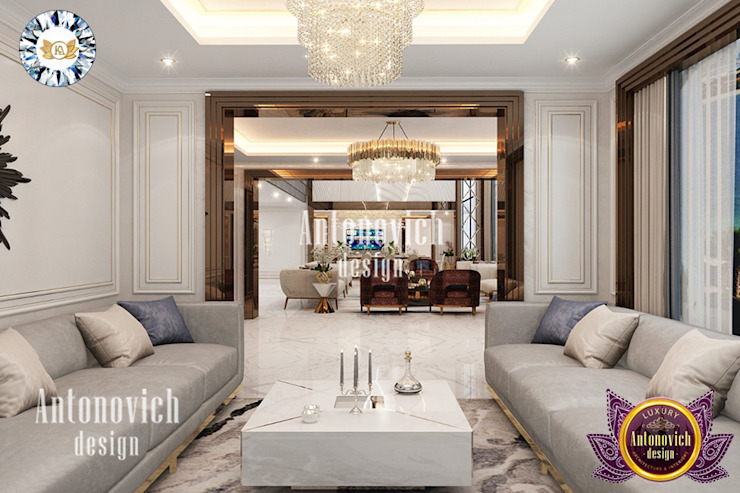 BEST DÉCOR IDEAS FOR LUXURY SITTING AREA DESIGN BY LUXURY ANTONOVICH DESIGN Luxury Antonovich Design Modern living room