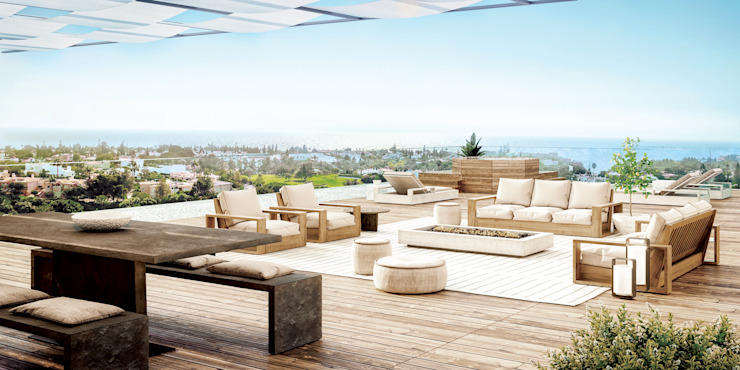 Propriété Générale International Real Estate Modern balcony, veranda & terrace