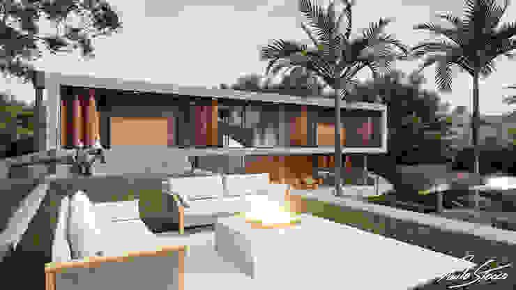 Paulo Stocco Arquiteto Balkon, Beranda & Teras Modern