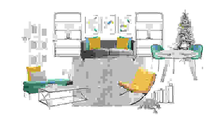 Concept Board Alcaria, Interior Design Salas de estar modernas