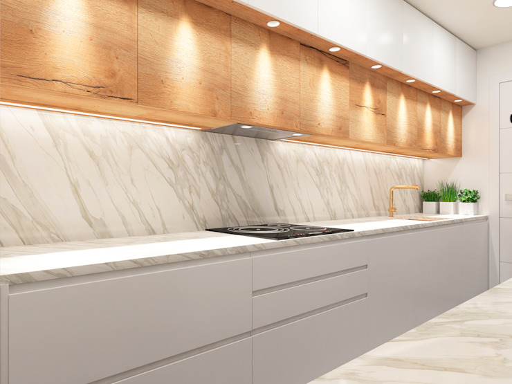 Cocina moderna 2021. ZERMATT DECORACION S.L CocinaAlmacenamiento y despensa Aglomerado Acabado en madera