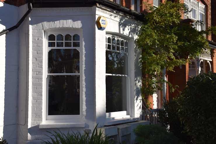 Sash window bay Repair A Sash Ltd Ventanas de madera Madera Blanco