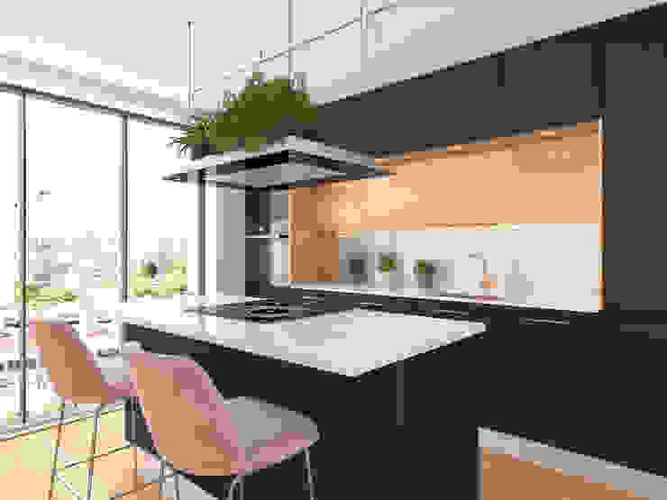 ZERMATT DECORACION S.L Built-in kitchens Chipboard Black