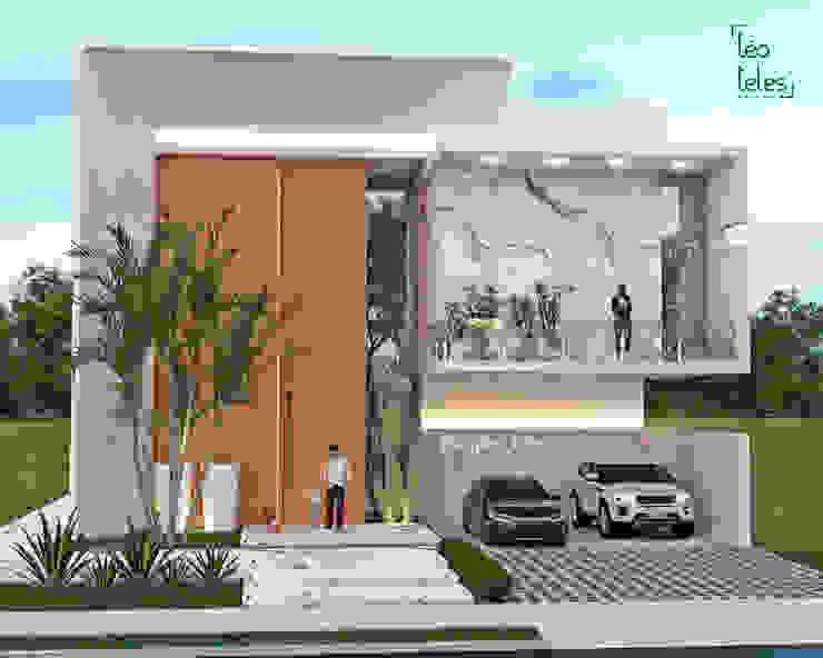 Residência moderna de alto padrão. Leo Teles Arquitetura e Interiores Condomínios