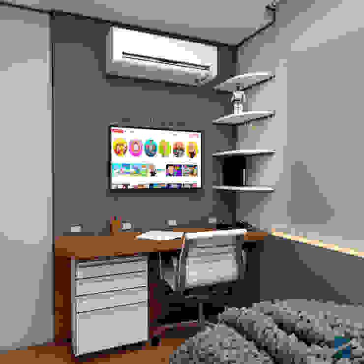 Quarto do João Shayene Fortes Arquitetura e Interiores Quarto infantil moderno MDF Azul