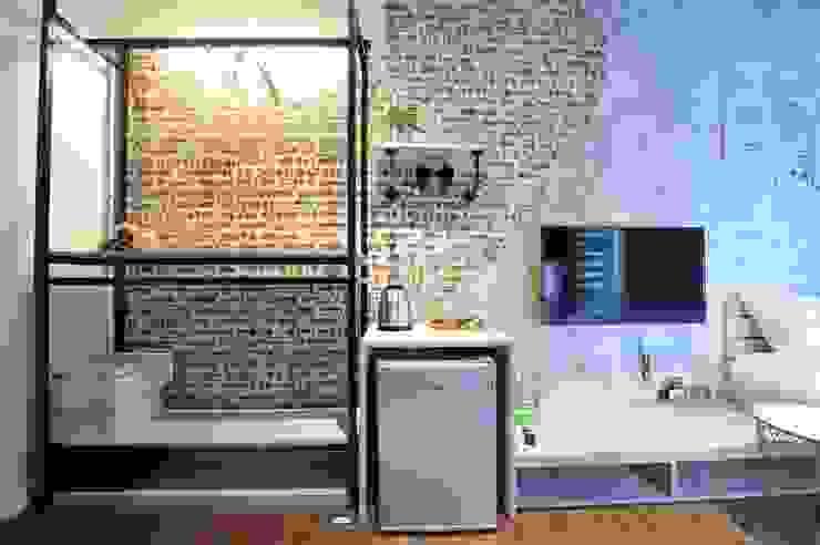 老宅改造。輕工業風小套房 禾聚室內裝修有限公司 臥室