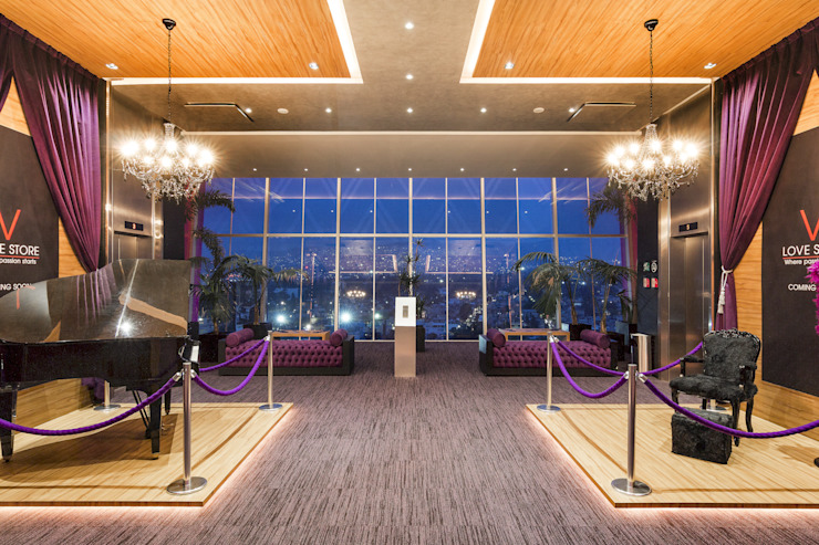 MANUEL TORRES DESIGN Hotels Wood Purple/Violet