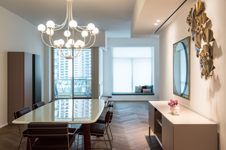 CP Parquet Modern Dining Room Wood