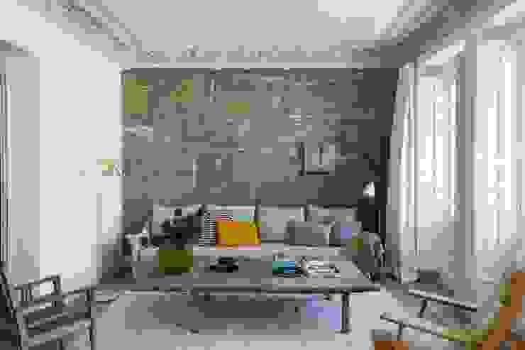 REFORMA INTEGRAL SAGASTA ÁBATON Arquitectura Salones de estilo moderno