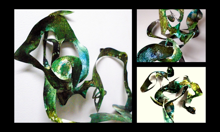 Alcohol Ink Panting , unique 3-D Magnetic Sculpture, High End Creative Sculpture, Interactive sculpture, office sculpture, eco gift idea, affordable sculptures Holly Anderson Fine Art ArtworkOther artistic objects Synthetic Green