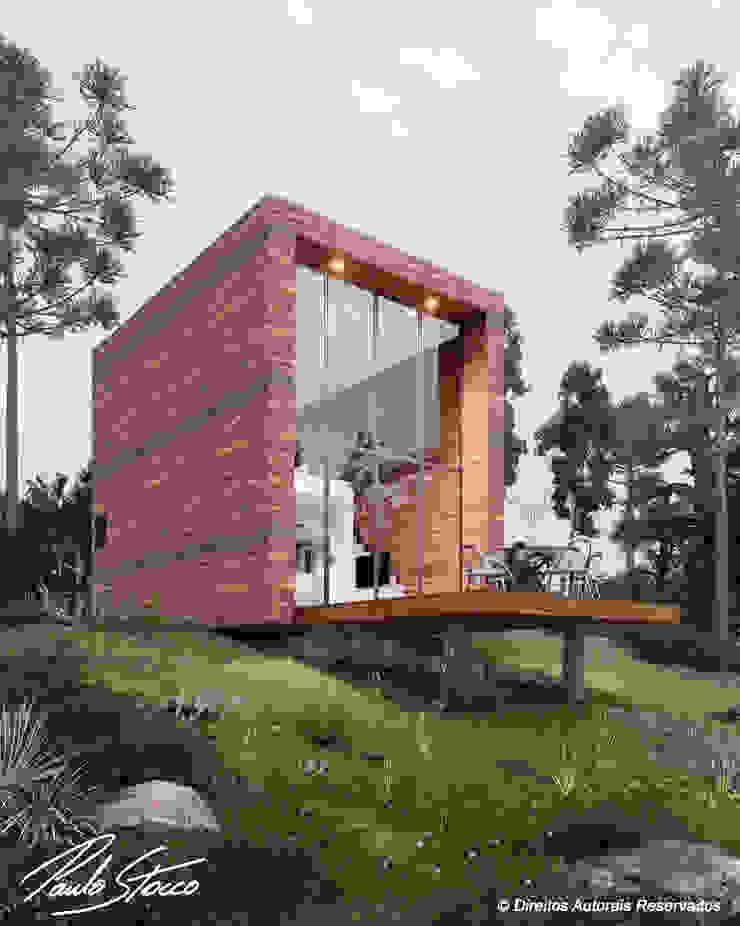 Paulo Stocco Arquiteto Rumah kecil Kayu