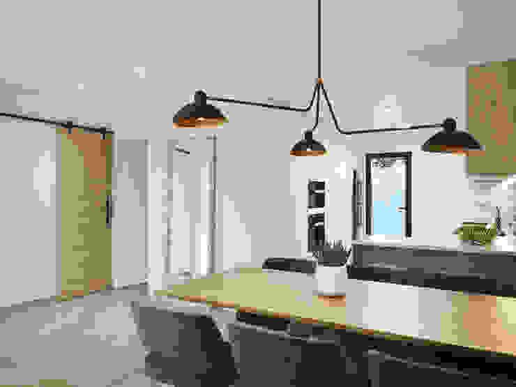 Residencial Marau Beach Cimbra Global Group Pasillos, vestíbulos y escaleras de estilo industrial