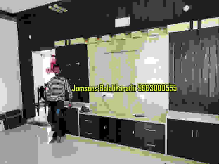 Jomsons TV Showcase Design Hindupur 9663000555 balabharathi pvc interior design Living roomTV stands & cabinets Plastic Wood effect