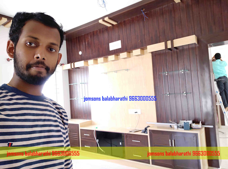 PVC Tv Table Design Hindupur 9663000555 balabharathi pvc interior design Living roomTV stands & cabinets Plastic Wood effect