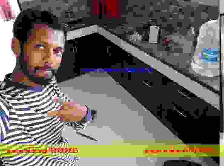 PVC Kitchen cabinets Hindupur 9663000555 balabharathi pvc interior design KitchenCutlery, crockery & glassware Plastic Wood effect