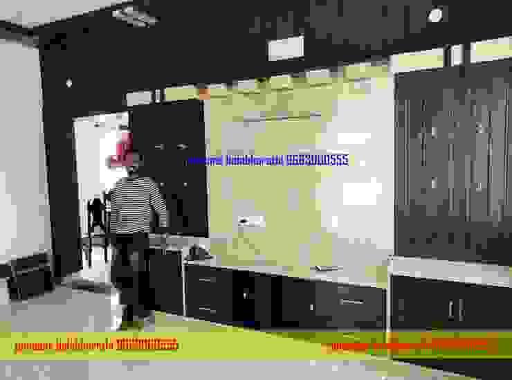 Balabharathi tv showcase Design 9663000555 balabharathi pvc interior design Living roomTV stands & cabinets Plastic Wood effect