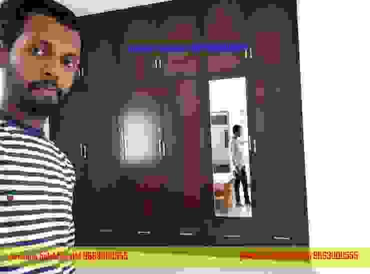 PVC Wardrobe Design Hindupur 9663000555 balabharathi pvc interior design BedroomWardrobes & closets Plastic Wood effect