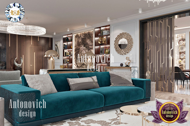 MODERN APARTMENT INTERIOR DESIGN BY LUXURY ANTONOVICH DESIGN Luxury Antonovich Design Modern Living Room