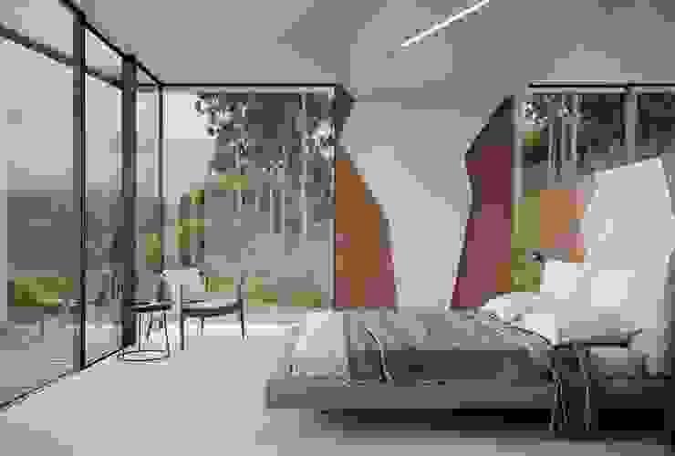 MJARC - Arquitetos Associados, lda Camera da letto minimalista