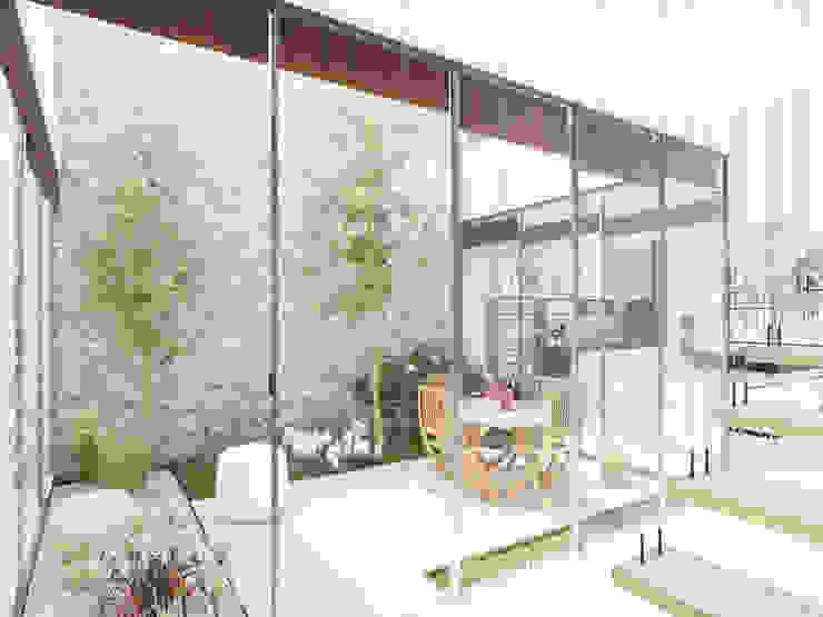 Vivienda San Agustín ICF Arquitectura Jardines de estilo moderno