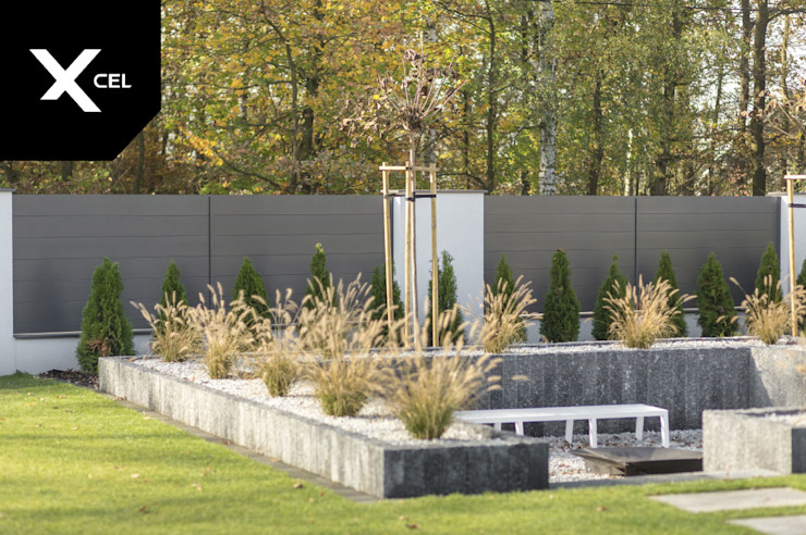 XCEL Fence Modern style gardens