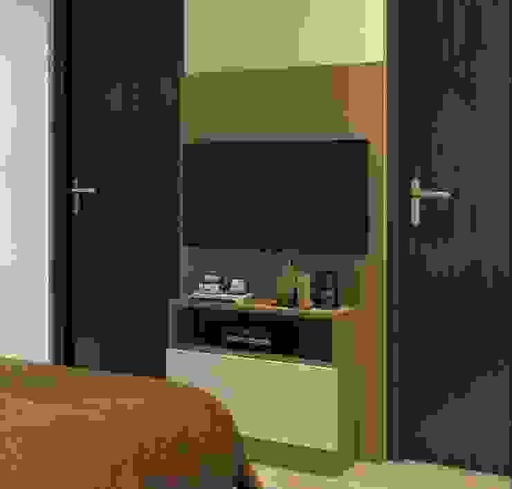 Tv unit in parents bedroom Lakkad Works Modern style bedroom
