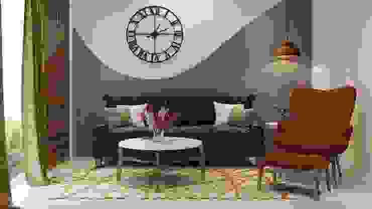 Living room Lakkad Works Modern living room Turquoise