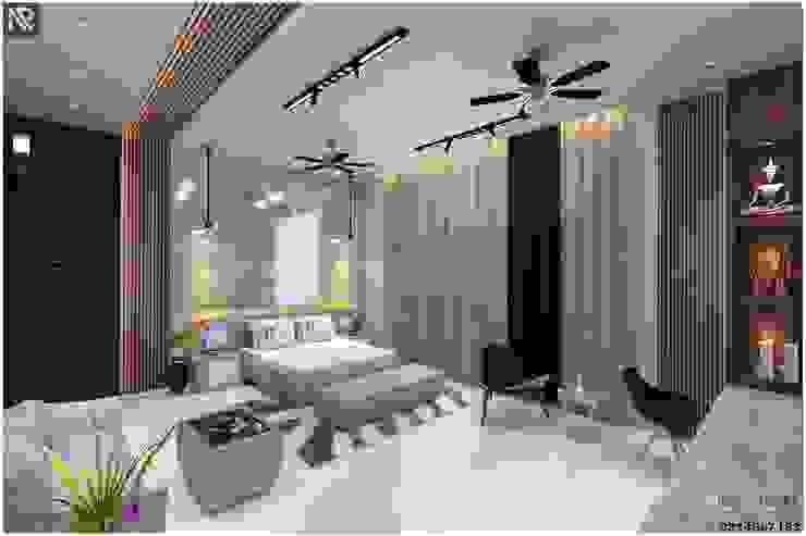 Luxury bedroom Interiors RAVI - NUPUR ARCHITECTS Modern style bedroom Stone White