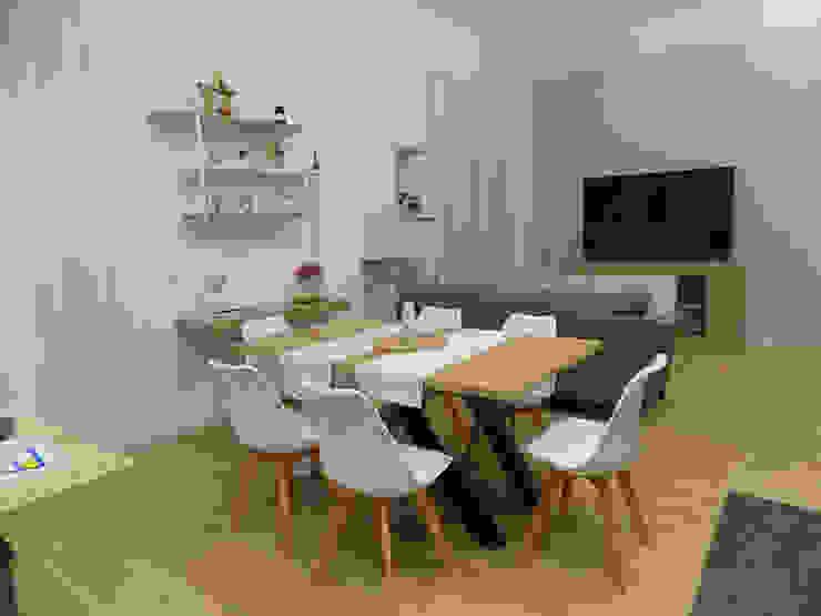 Seven Project Studio Вітальня Дерево Білий