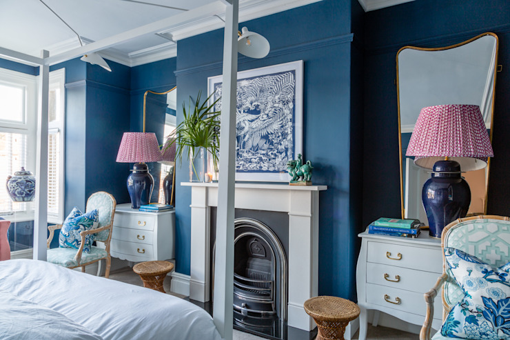 Townhouse in Somerset Sean Symington Design Eclectic style bedroom
