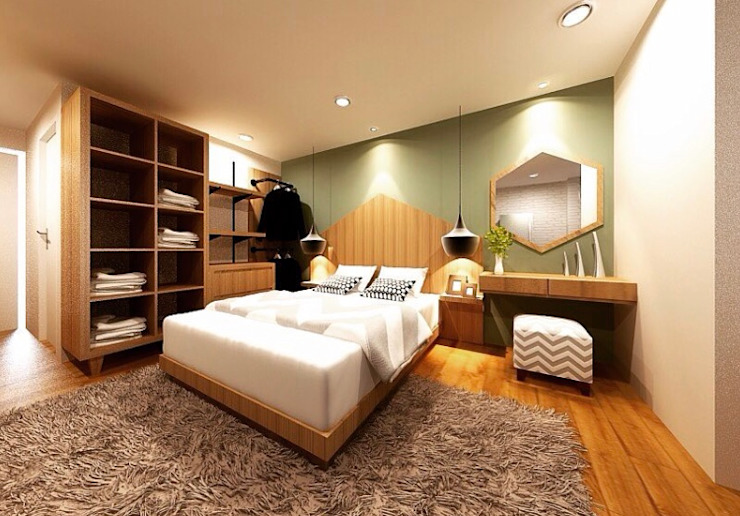 TRIDI interior+furniture Modern Yatak Odası