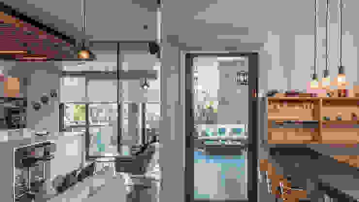 Remodelación depto Clericus trama arquitectos Livings de estilo minimalista