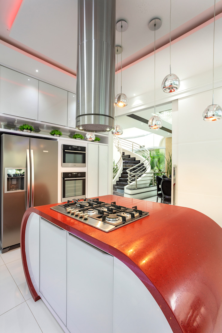 Designer de Interiores e Paisagista Iara Kílaris Dapur Modern