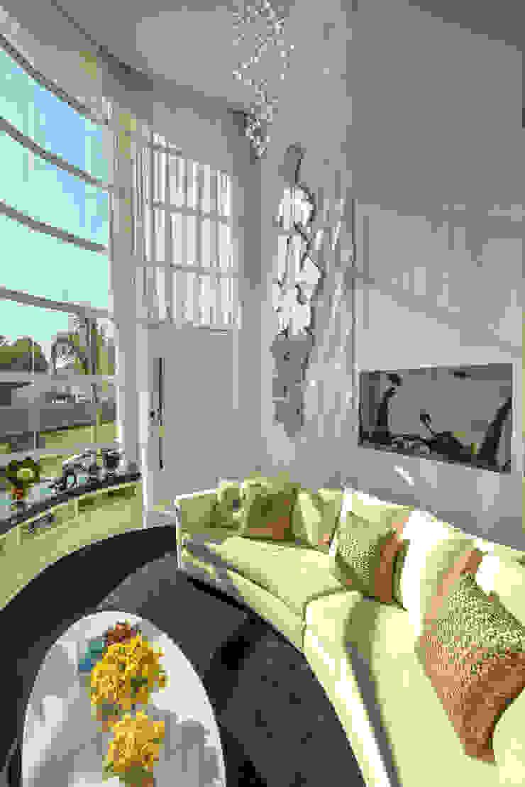 Designer de Interiores e Paisagista Iara Kílaris Ruang Keluarga Klasik