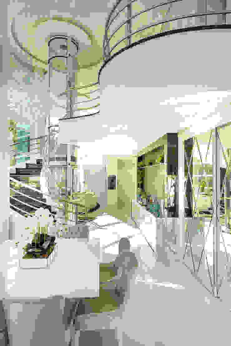 Designer de Interiores e Paisagista Iara Kílaris Ruang Makan Klasik