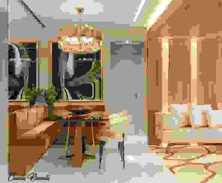 Living - Jantar Camila Pimenta | Arquitetura + Interiores Salas de jantar modernas Madeira Bege