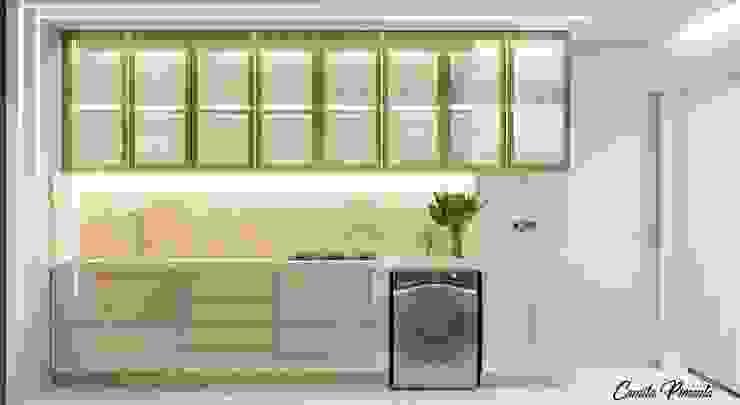 Cozinha Camila Pimenta | Arquitetura + Interiores Cozinhas pequenas Madeira Bege