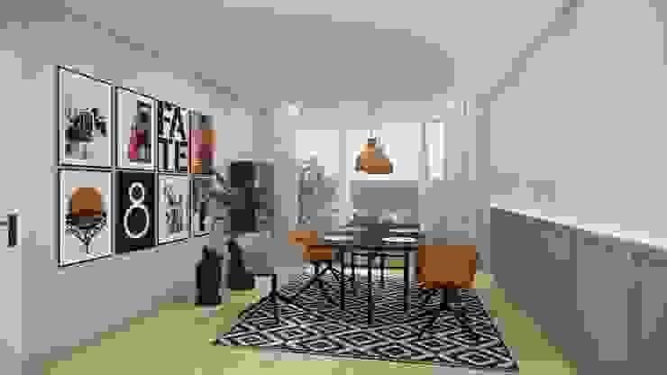 Essbereich modern und gemütlich Innenarchitektur Federleicht Skandinavische Esszimmer Holz Gelb