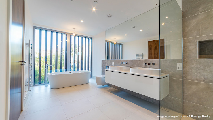 Oseleta, Luscombe, Luscombe Valley, Poole, Dorset David James Architects & Partners Ltd Salle de bain moderne