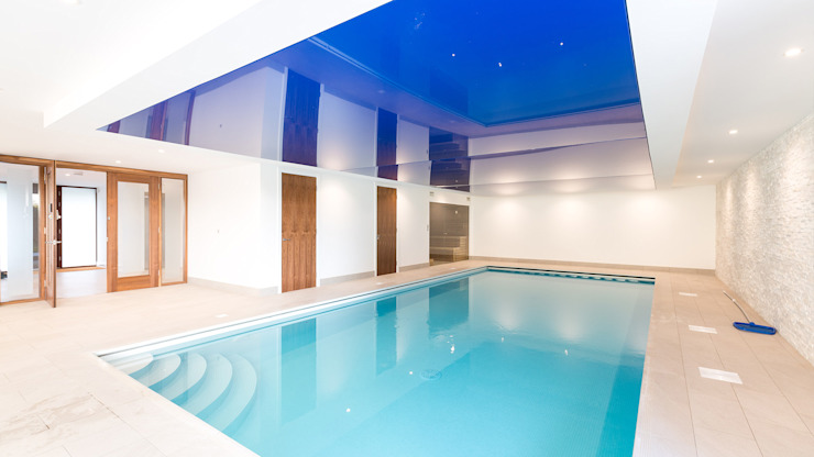 Oseleta, Luscombe, Luscombe Valley, Poole, Dorset David James Architects & Partners Ltd Piscine moderne