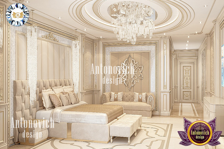 IDEAL BEDROOM INTERIOR DESIGN BY LUXURY ANTONOVICH DESIGN Luxury Antonovich Design Modern style bedroom