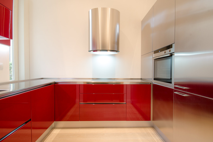 MiniCucine.com Built-in kitchens Wood Red