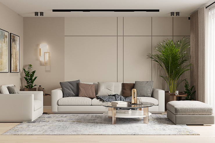 Студия дизайна ROMANIUK DESIGN Scandinavian style living room