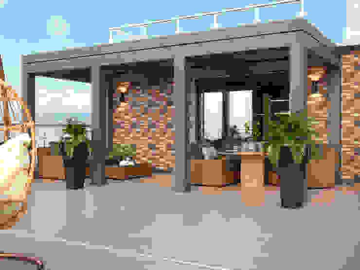 Студия дизайна ROMANIUK DESIGN Scandinavian style balcony, veranda & terrace