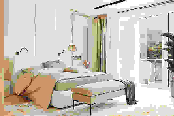 Студия дизайна ROMANIUK DESIGN Scandinavian style bedroom