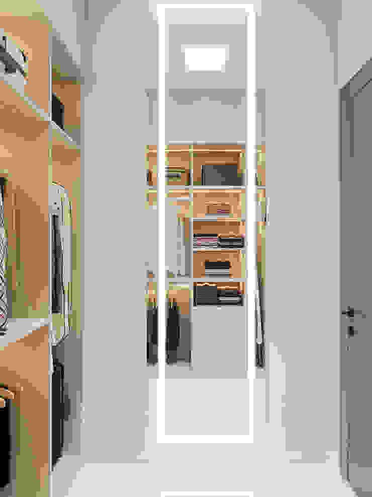 Студия дизайна ROMANIUK DESIGN Scandinavian style dressing room