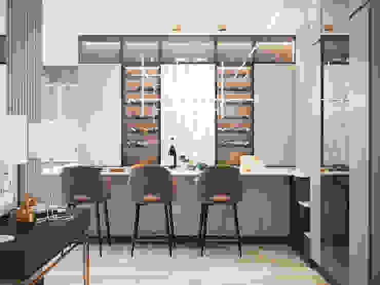 Студия дизайна ROMANIUK DESIGN Scandinavian style kitchen