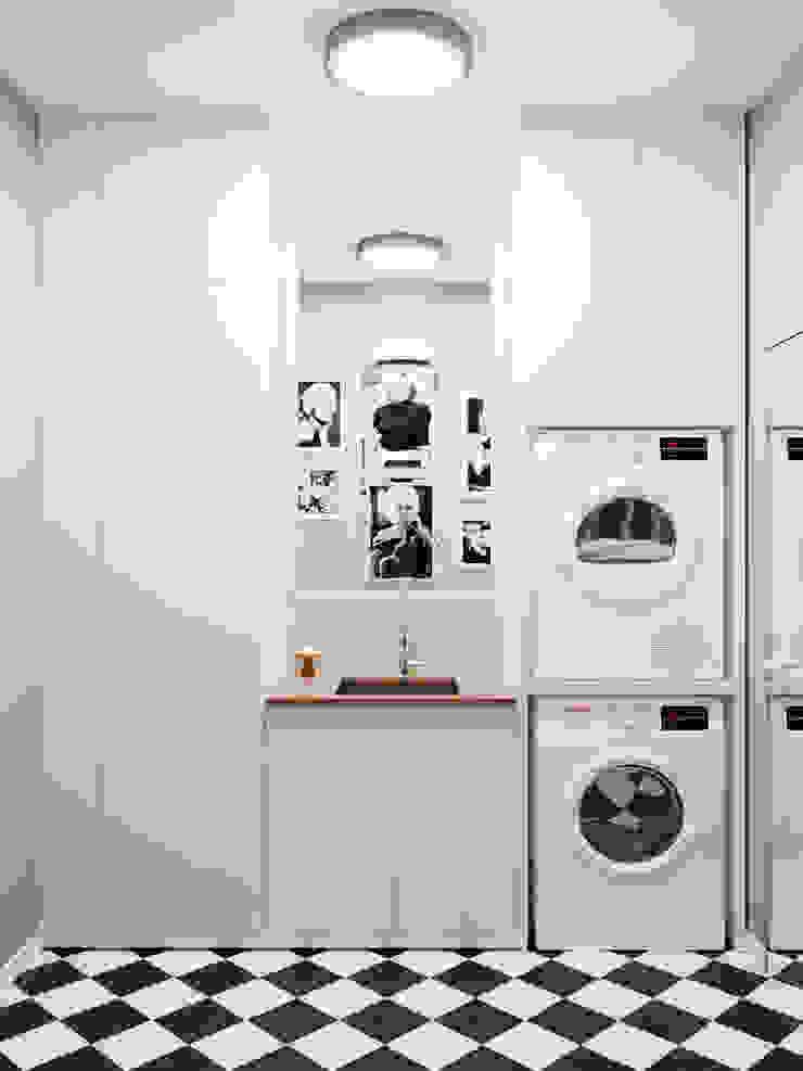 Постирочная Студия дизайна ROMANIUK DESIGN Ванная в классическом стиле