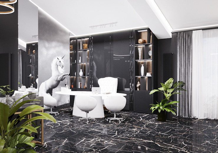 Кабинет Студия дизайна ROMANIUK DESIGN Рабочий кабинет в классическом стиле
