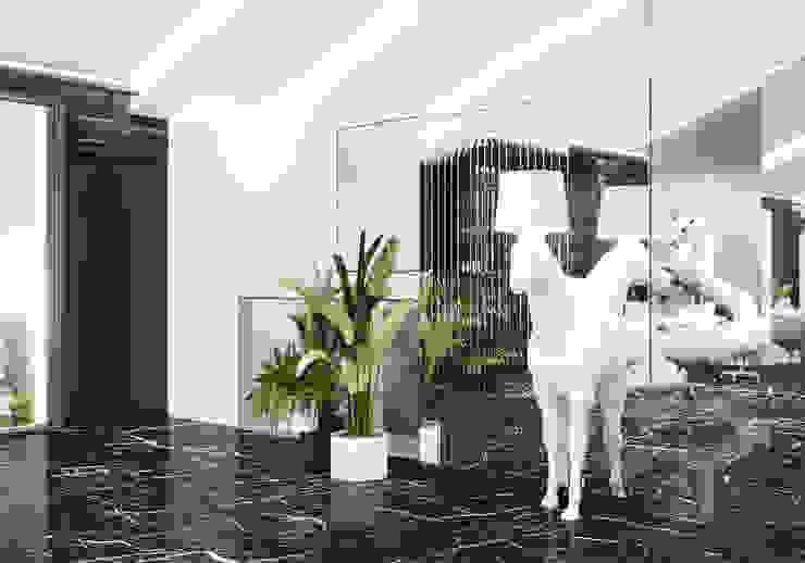 Холл Студия дизайна ROMANIUK DESIGN Коридор, прихожая и лестница в классическом стиле
